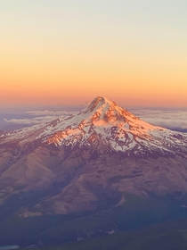 Mt Hood in Oregons magnificent sunset