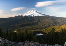 Mt Hood seen from Tom Dick and Harry Mountain Oregon