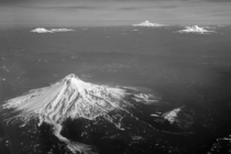 Mt Hood St Helens Rainier and Adams in one picture