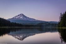 Mt Hoods Reflection on Trillium Lake