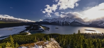 Mt Indefatigable Trail view of Upper and Lower Kananaskis Lake Alberta x Murray Cotton OC