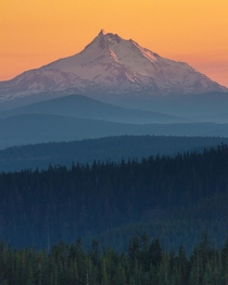 Mt Jefferson at sunset