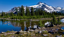 Mt Jefferson  Russel Lake Oregon