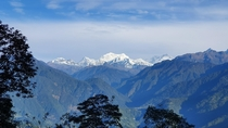 Mt Kanchenjunga rd highest mountain from Pelling India