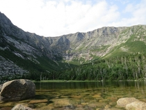 Mt Katahdin overlooking Chimney Pond Baxter State Park Maine