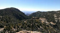 Mt Lemmon overlooking Tucson AZ