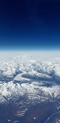 Mt Logan Yukon Terr Canada from the sky