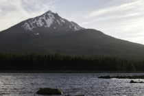 Mt McLaughlin as seen from -Mile Lake OR