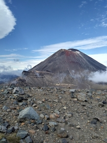 Mt Ngauruhoe on the Tongariro Crossing in New Zealand