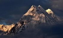 Mt Panchachuli a  m Massif in Great Himalayan Range India