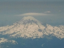 Mt Rainer after take off OC  I think either way one of the best views
