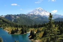 Mt Rainier and Eunice Lake