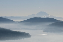 Mt Rainier and Lake Sammamish - Washington State  X