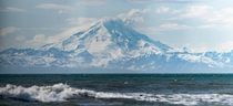 Mt Redoubt from Clam Gulch Alaska