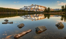 Mt Rundle Alberta  by Chris Greenwood