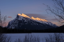 Mt Rundle Alberta Canada Sunset of November th