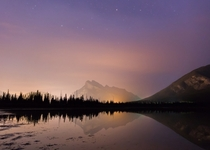 Mt Rundle as seen from Vermilion Lakes Banff National Park