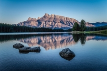 Mt Rundle at Sunrise Banff National Park  by Steven Blackmon