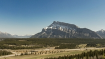 Mt Rundle baking in the sun Banff