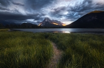 Mt Rundle is receiving lots of love Heres a storm approaching a few months ago Vermillion Lakes Alberta
