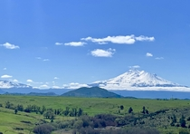Mt Shasta and The Whaleback far left on a beautiful blue-bird day   x  pixels