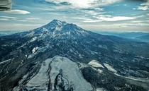 Mt Shasta California from  ft in the air