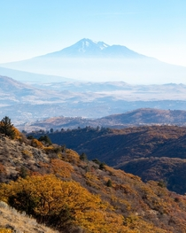 Mt Shasta simply dominates the landscape of Northern California - shot from  miles away