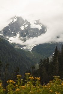 Mt Shuksan North Cascades WA Cloudy but overwhelmingly beautiful