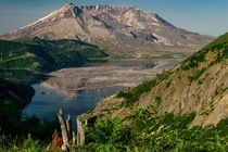 Mt St Helens and Spirit Lake from Norway Pass   x