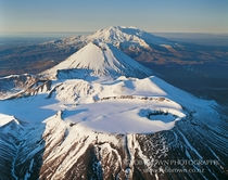 Mt Tongariro Ngauruhoe and Ruapehu Tongariro National Park New Zealand