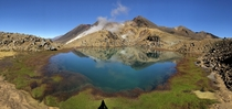 Mt Tongariro volcanic lake