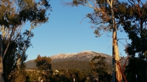 Mt Wellington m high Hobart Australia The morning view from my carpark on the way to work
