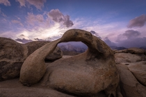 Mt Whitney as seen through Mobius Arch in the Alabama Hills CA