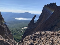 MtThielsen looking out at Diamond Lake Oregon