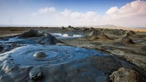 Mud volcanoes in Gobustan National Park Azerbaijan by Jane Sweeney