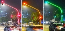 Mumbai installs first traffic signal with LEDs on traffic pole