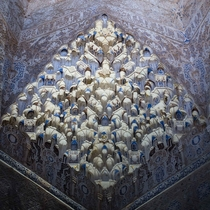 Muqarnas on the ceilings of Alhambra