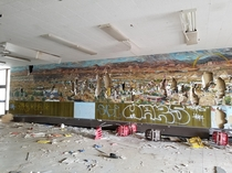 Mural in an Abandoned Bureau of Indian Education School New Mexico