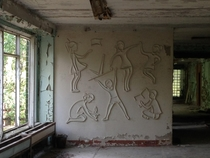 Mural in Pripyat Ukraine