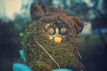 Murby - A moss-covered Furby found on an old farms property during cleanup