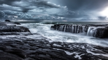 Muriwai New Zealand after endless days of rain and gale