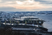 Murmansk seaport is one of the largest ports in Russia that remains ice-free year-round due to the warm North Atlantic Current and is important fishing shipping and military destination Murmansk is the largest city inside the Arctic Circle