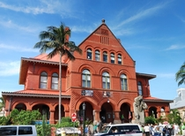 Museum of Art and History Former Post Office built around  Key West Florida