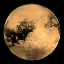 Must be over  billion years old to view This is Titan one of Saturns beloved children