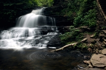 My attempt at capturing the Onondaga Waterfall at Ricketts Glen State Park PA