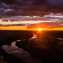 My back yard sunsets are better than yours Snake River Canyon Twin Falls Id
