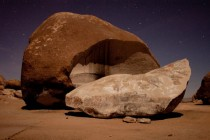 My boyfriends long exposure of the worlds largest freestanding boulder Giant Rock Landers California