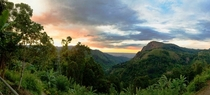 My breakfast view of Little Adams peak Sri Lanka