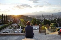 My buddy looking out over Florence   x