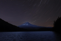 My camera is old and bad but star trails over mount hood turned out okay if you ignore the hot pixels